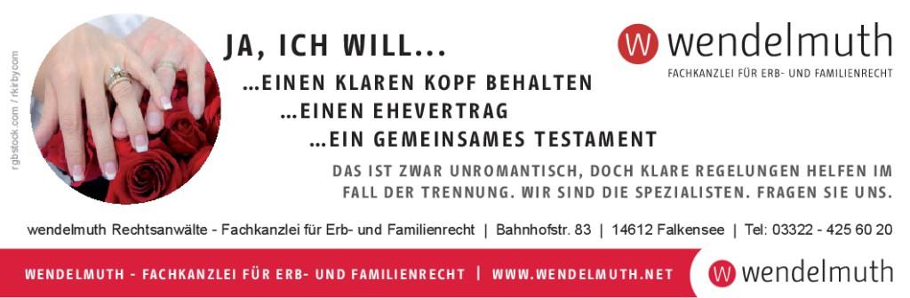 Ehevertrag Ja ich will Fachanwalt Falkensee anzeige 188x59-001