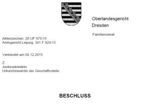 OLG Dresden - Beschluss