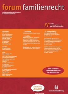Forum Familienrecht Deckblatt