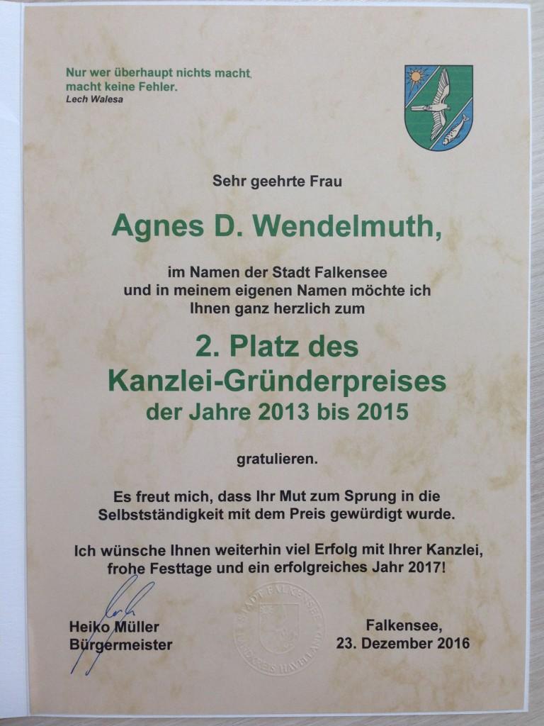 Stadt  Falkensee Gratulation