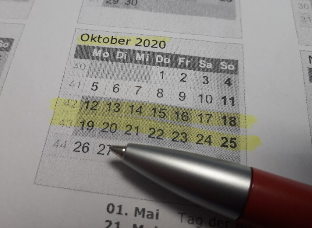 Herbstferien 2020 - Corona